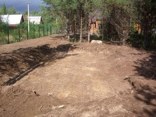 Подготовка места для строительства