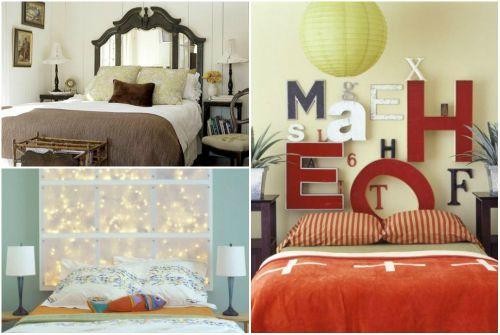 Идеи декора спальни — новая спинка кровати