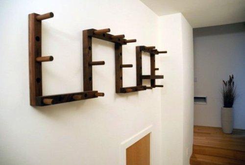 Модульная деревянная вешалка