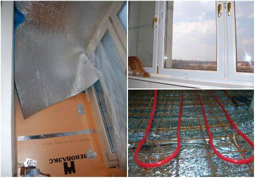 Как сделать балкон теплым фото
