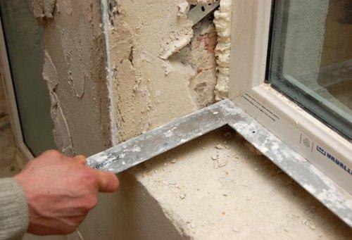 Как сделать шпаклевку окна