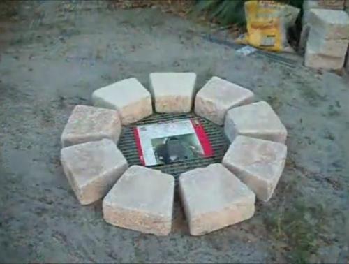 Выкладываем камни по кругу
