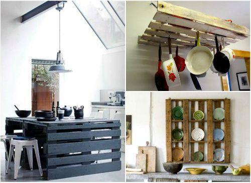 Мебель из паллет для кухни