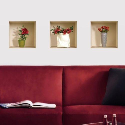 Укранение стен наклейками