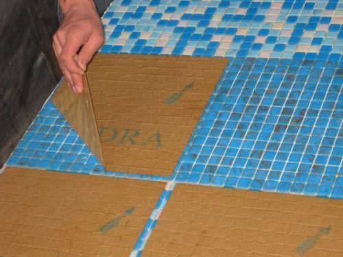 Работа с мозаикой на бумажной основе