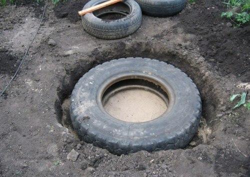Яма для шины