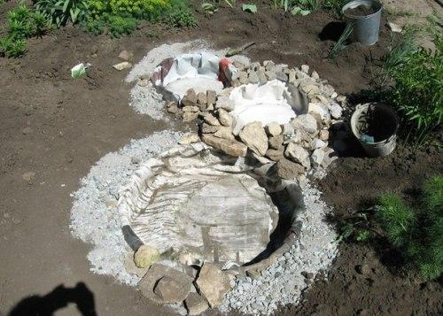 Укладка больших камней