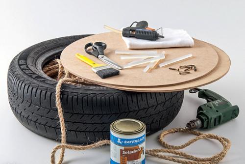 Материалы и инструменты для изготовления пуфа
