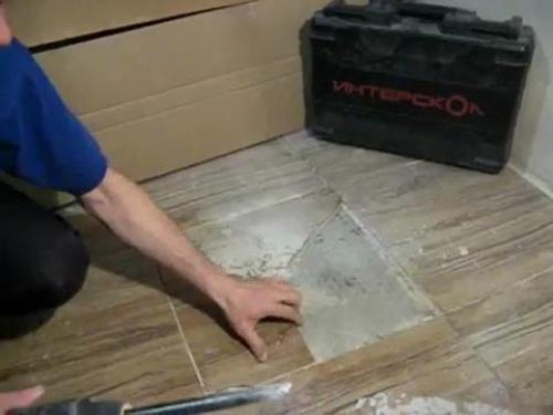 Замена и ремонт керамической плитки