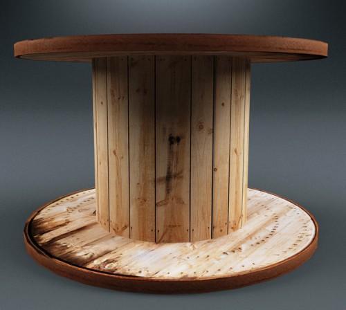 Стол из катушки для кабеля. Как быстро сделать круглый столик для гостиной и не только?
