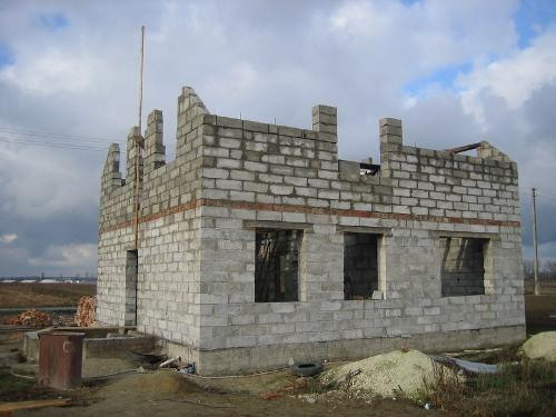 Стены второго этажа