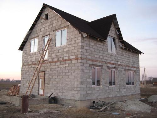Строительство дома из пеноблоков своими руками. Фотоотчет