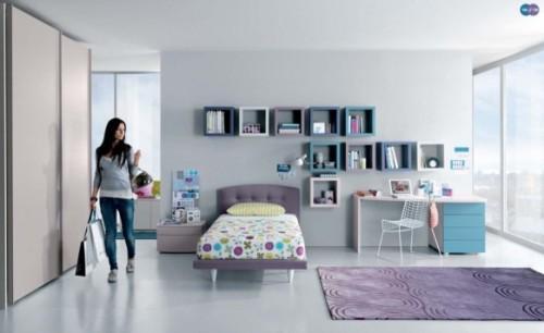 Яркий интерьер комнаты для подростка