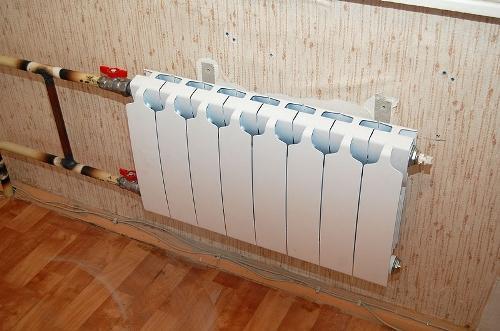 Новый радиатор вместо старого