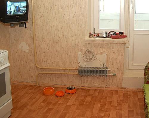 Замена радиатора отопителя на кухне