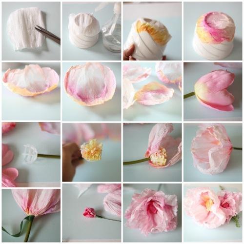 Делаем цветок из гофрированной бумаги