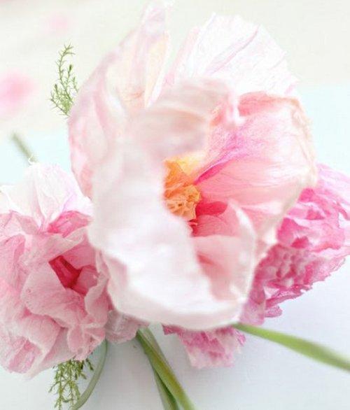 Красивые бумажные цветы своими руками