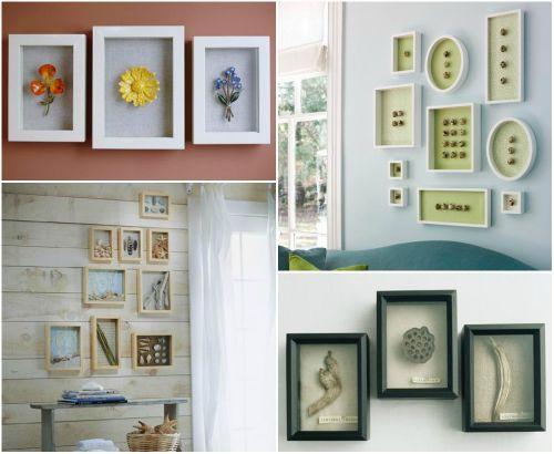 Декор стен композициями в рамках – декоративная изюминка вашей квартиры
