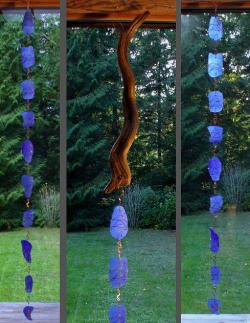 Дождевые цепи из стекла