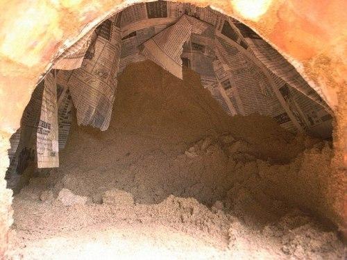 Убираем песок