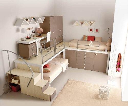 Спальный и рабочий детский уголок