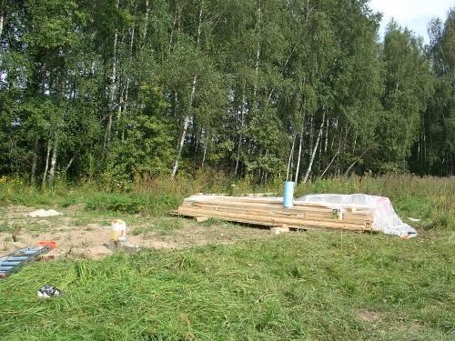 Строительство маленького дачного домика