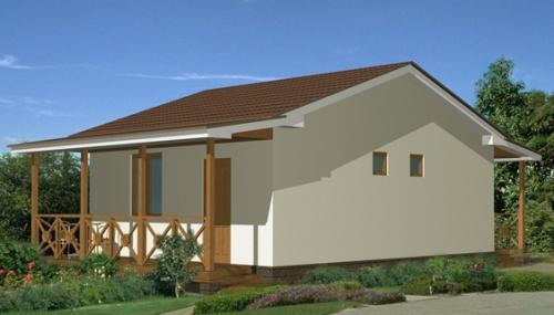 Проект дома отдыха 46 м2