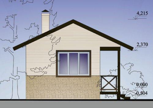 Проект садового домика 20.6 м2