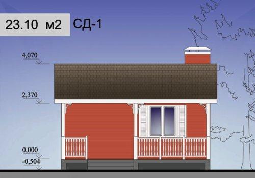 Проект садового домика 23.1 м2