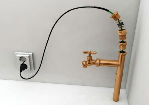 Шланг с подогревом для водопровода на даче
