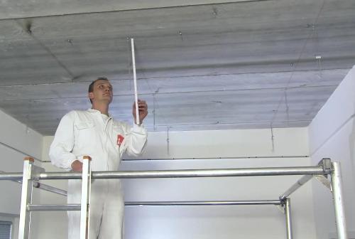 Этап третий – устройство подвесов и направляющих