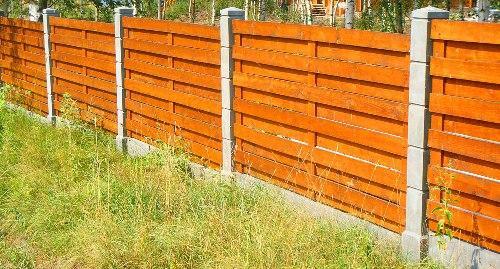 Забор на неровном участке