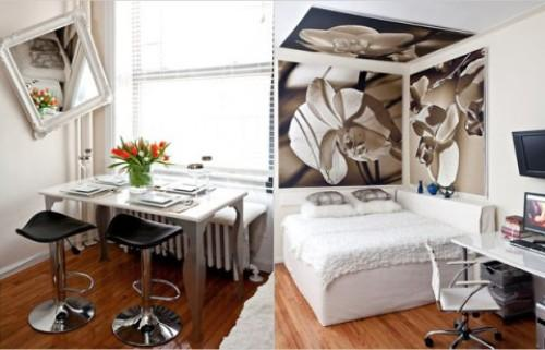 Функциональные зоны в однокомнатной квартире