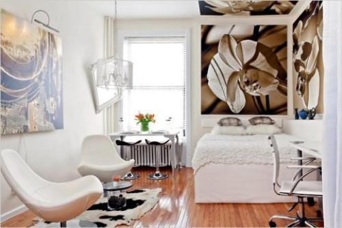 Интерьеры маленьких однокомнатных квартир. Фото интерьера «однушек»
