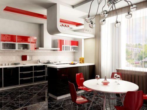 Красная кухня-студия