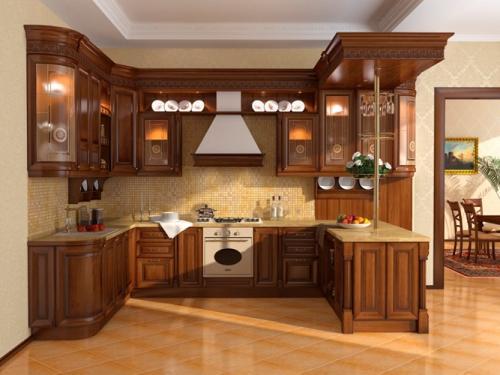 Класическая кухня-студия
