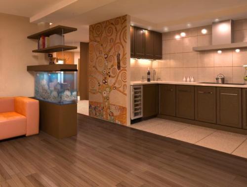 Как переделать обычную кухню в кухню-студию?