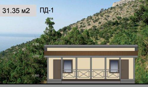 Пляжный домик. Проект