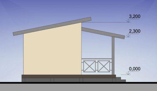 Пляжный домик 31 м2