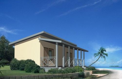 Проект пляжного домика 31 м2