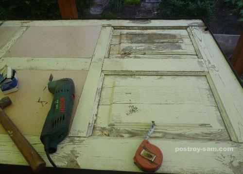 Выравнивание поверхности двери