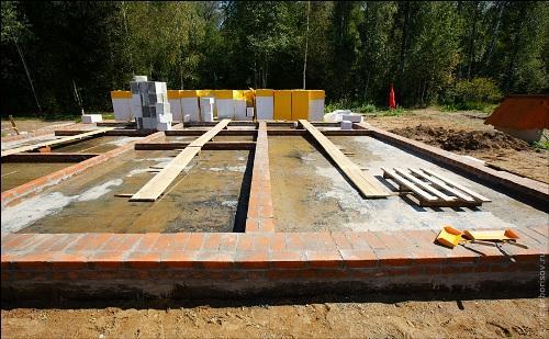 Фундамент под газосиликатный дом