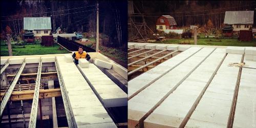 Перекрытия и стропильная ферма крыши