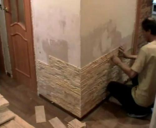 Укладка декоративного камня. видео.