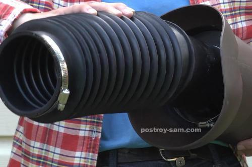 Гофрированная труба для соединения канализационного выхода и трубы