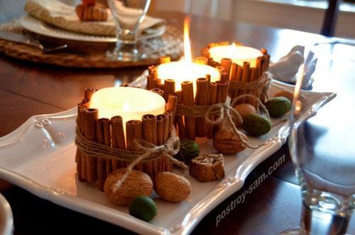 Декорирование свечей своими руками к Новому году