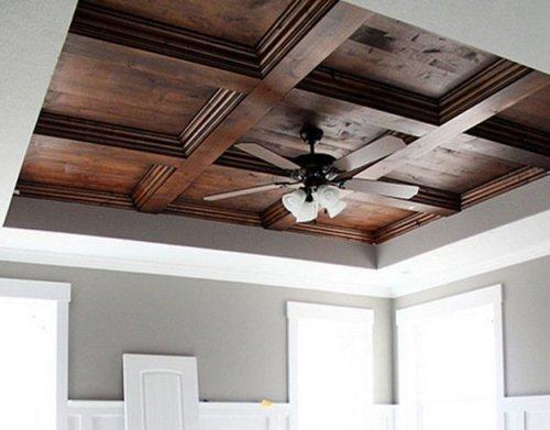 Деревянный потолок своими руками