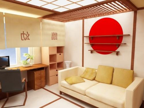 Интерьер квартиры в японском стиле. Фото