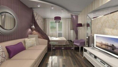 Гостиная + спальня