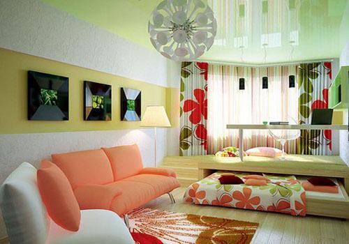 Выдвижная кровать в гостиной